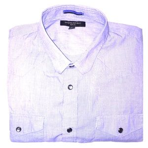 Banana Republic Shirts - Banana Republic Slim-Fit Snap Button Down Shirt